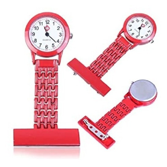 Reloj Metalico Colores Broche Enfermera Doctora