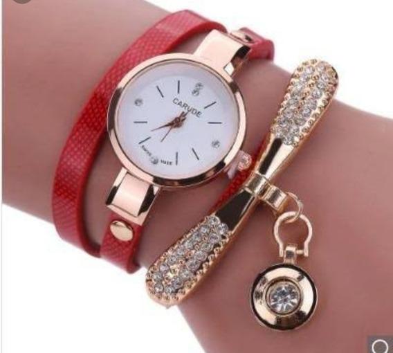 Relógio Feminino De Couro