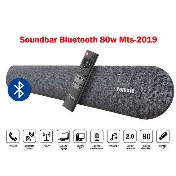Caixa Som Sound Bar Tv Celular Bluetooth Top Tomate Optico