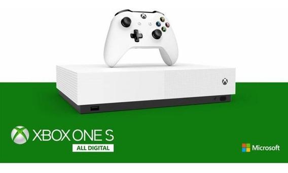 Xbox One S All Digital Edition 1tb + 3 Jogos - Novo Lacrado