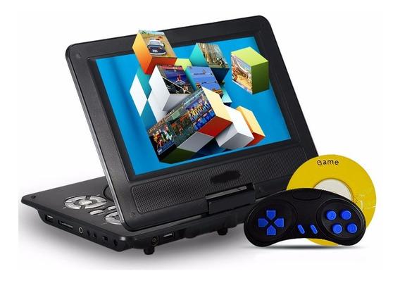 Dvd Portatil Pantalla 10 Hd 100 Video Juegos Radio + Soporte Apoya Cabezas Kit Auto 12v 220v C. Remoto Usb Sd Peliculas