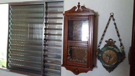 Linda Caixa De Relógio Silco De Parede Antigo