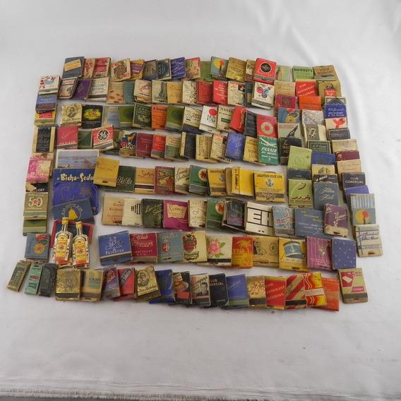 Lote Coleção 156 Caixas De Fósforos Nacionais Internacinais