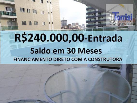 Apartamento Em Praia Grande, 03 Dormitórios, Canto Do Forte Ap2184 - Ap2184