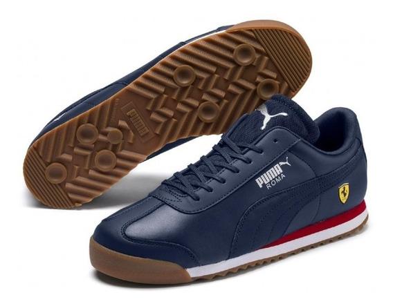 Tenis Puma Hombre Azul Marino Sf Roma 30608308