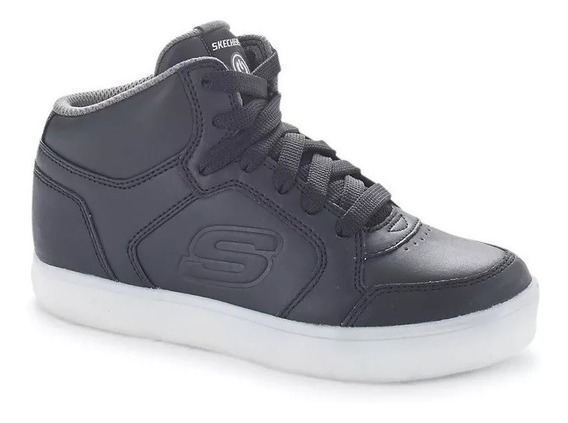 Zapatilla Skechers Unisex Energy S Lights Boys Negro Cli