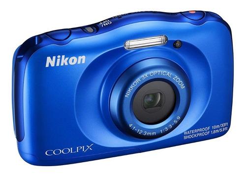 Imagem 1 de 5 de Câmera Nikon Coolpix W150 À Prova D'água Azul