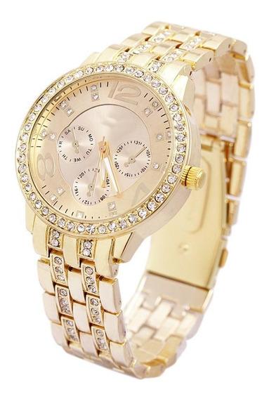 Relógio Feminino Original Importado Promoção Luxo C/ Estojo