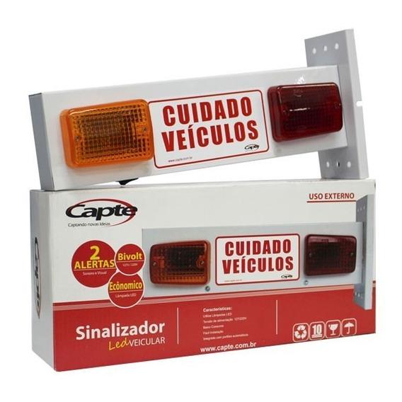 Sinalizador De Garagem De Led Sonoro 110/220v