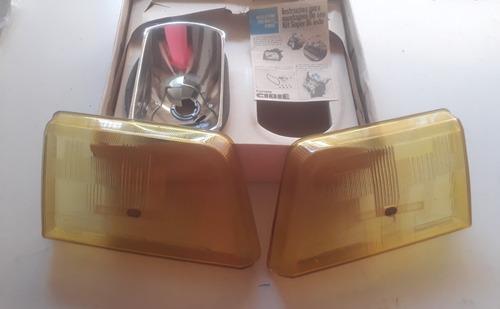 Par Lente Farol Cibie Monza 88/90 Bi-iodo Kit 1 Foco Amarelo
