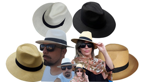 20 Chapéu Estilo Panamá Unissex Aba Larga Casual