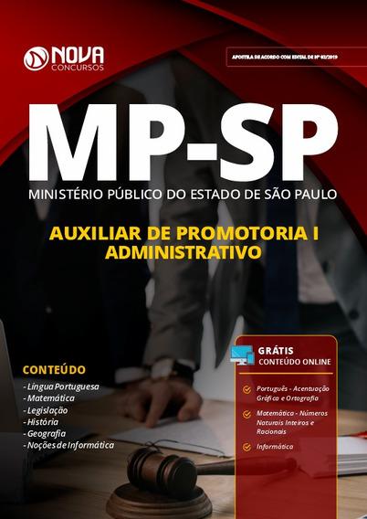 Apostila Mp-sp 2019 Auxiliar Promotoria I - Administrativo