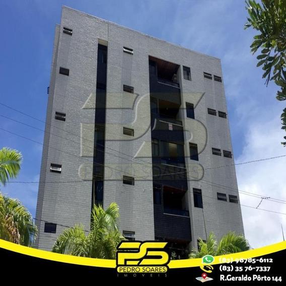 Apartamento Com 4 Dormitórios Para Alugar, 90 M² Por R$ 1.300,00/mês - Cabo Branco - João Pessoa/pb - Ap2463