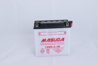 Batería 12n5.5-3b Masuda Acido Honda Suzuki Yamaha Italika