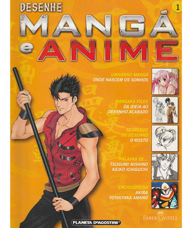 Revistas E Fasciculos Desenhe Mangá E Anime - Várias Edições