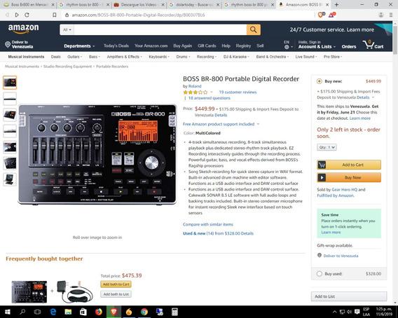 Boss Br-800 Mini Studio Grabacion 8 Channel Rhythm Play