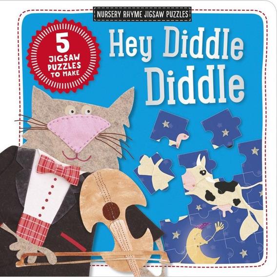 Hey Diddle Diddle - Nursery Rhyme Jigsaw Puzzles - 5 Jiggaw