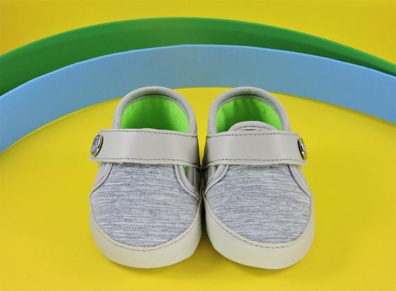 Sapatinho Bebê Menino Recém Nascido Klin Cinza/verde