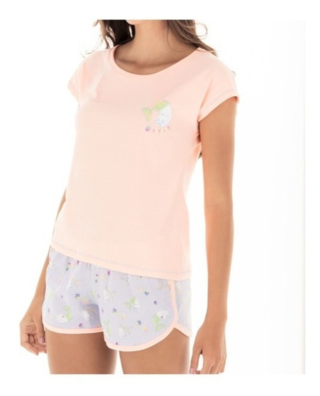 Pijama Dama Juvenil Tops Bottoms Short Mod. 28991 Catfish