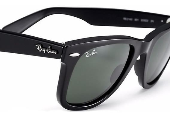 Óculos Ray-ban Wayfarer 2140 Black Piano Original Garantia