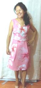 Vestido Vintage Casual Midi