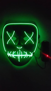 Mascara Led Neon Cosplay Rave Balada Festa Halloween