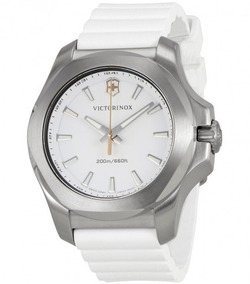 Relógio Victorinox Inox Feminino Diver Branco/prata/borracha