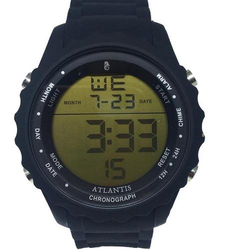 Relógio Digital Esportivo Masculino Atlantis Pd´agua Amarelo