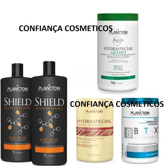 Plancton Progressiva Shield + Quiabo + Botox + Verniz (5x1)