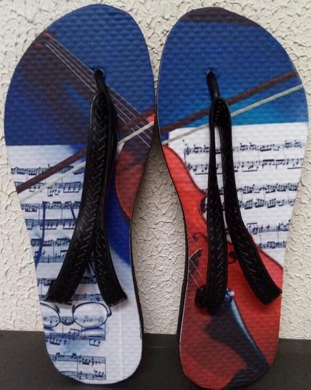 Chinelos Musicais, Clave Sol, Violino, Teclado, Saxofone