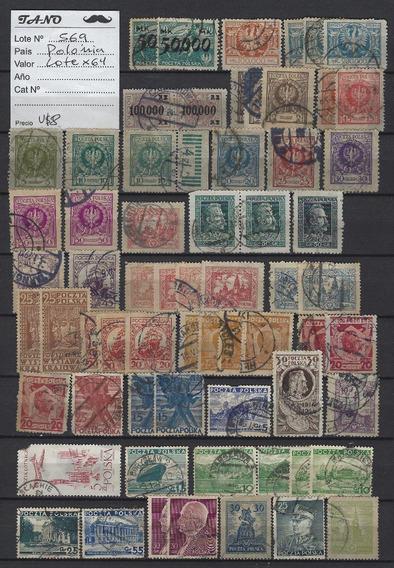 Lote569 Polonia Lote De 64 Estampillas Antiguas