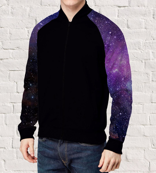 Jaqueta Bomber Bolso Lateral Galaxy Space Universe