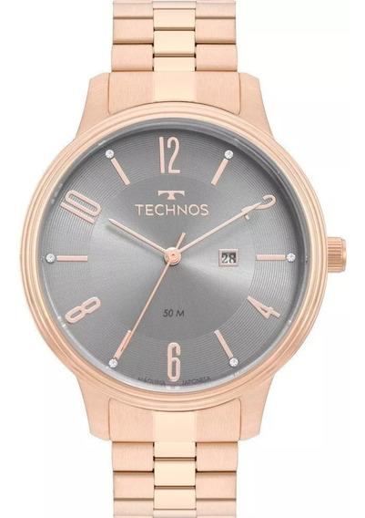 Relógio Feminino Technos Original Com Garantia, Nf 2015cch4n