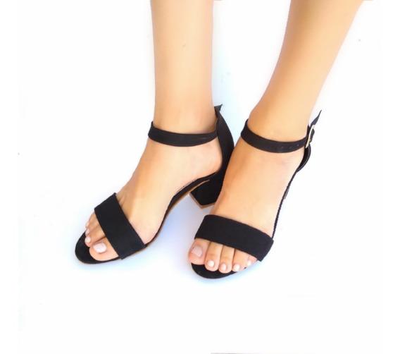 Zapatos De Tacón Tipo Sandalias Negro Para Mujer