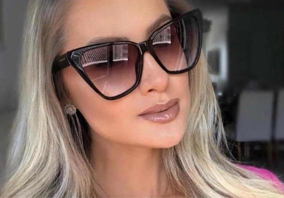 Óculos De Sol Feminino Gatinho Preto