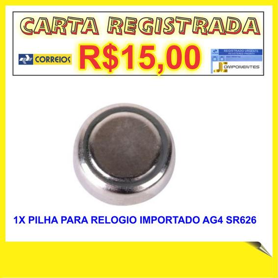 1xbateria,pilha,ag4 Ag4,626a,377a,cx66w Bateria Para Relogio