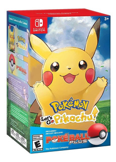 Pokemon Lets Go Pikachu Bundle Pokeball Plus Nintendo Switch