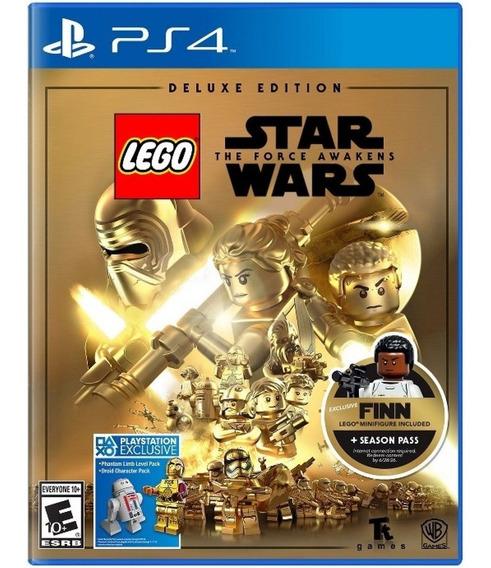 Lego Star Wars:force Awakens Deluxe Ed+lego Finn Ps4 Lacrado