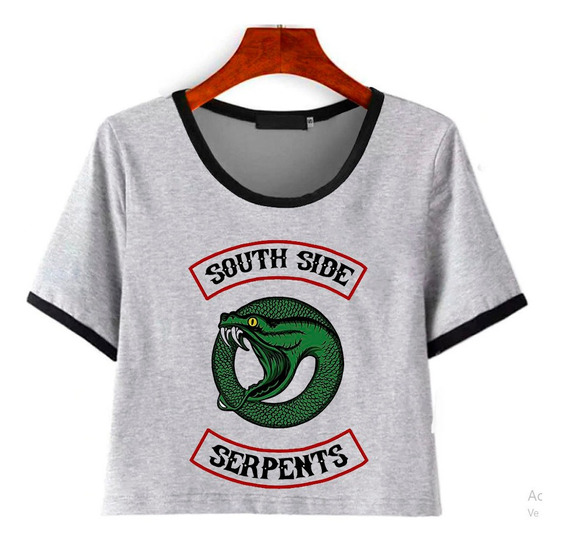 Remera Corta South Side Serpents Logo Riverdale