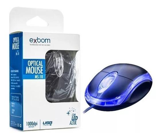 Mini Mouse Óptico Usb 1000dpi Led Lançamento