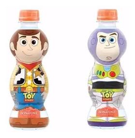 6 Garrafinhas Água Toy Story Woody E Buzz Lightyear Bonafont