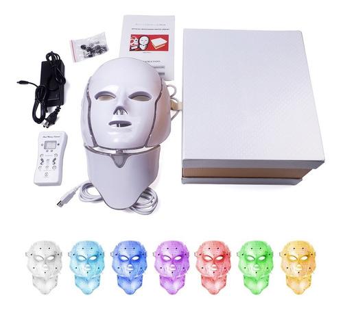 Máscara De Terapia Facial Con Luz Led De 7 Colores