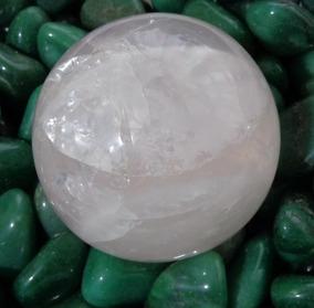 Bola De Quartzo Rosa - H1261 - Prosperity Minerais