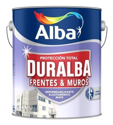 Pintura Latex Exterior Duralba Frentes Y Muros Impermeabilizante Blanco X 20 Lts - Kromacolor
