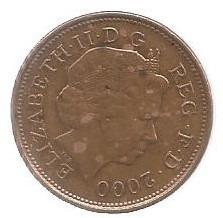 Moeda 2 Two - Pence Elizabeth - Reg.f.d. 2000.