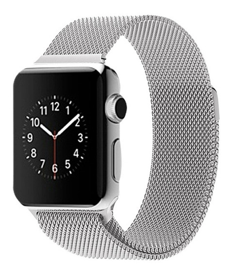 Pulseira Aco Milanese Aluminio iPhone Watch 38mm 44mm 1 2 3