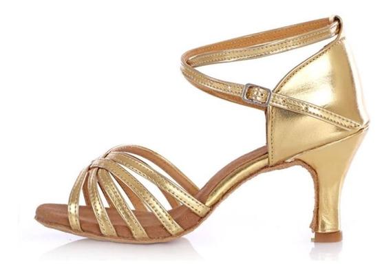 Zapatillas Zapato Mujer Baile Bailar Salsa Bachata Tacones 7