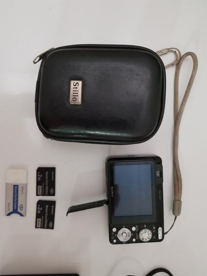 Câmera Digital Sony Cyber Shot W120 Perfeito Estado E Cartão