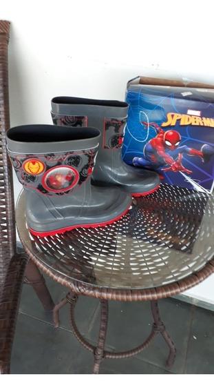 Bota Infantil Masculina Marvel Holográfico Grendene