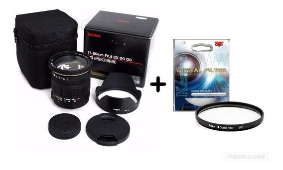 Sig 17-50mm F/2.8dc Ex Os Hsm Auto F+estab Imag+filtro Canon